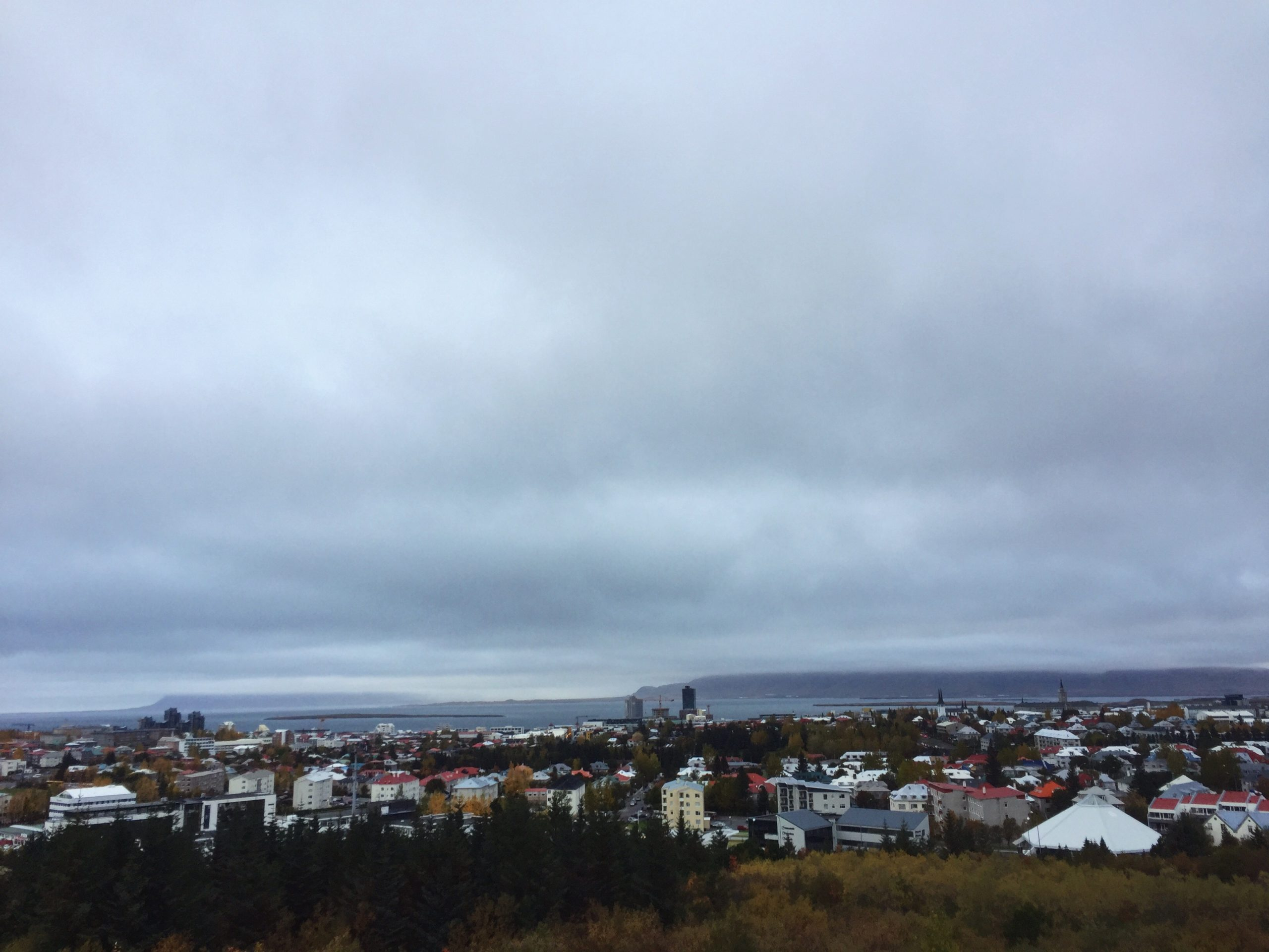 view from perlan - travel to Iceland